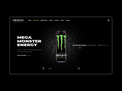 Monster Energy energy drink monster monster energy interactive clean modern web design web web interfaces webdesign website