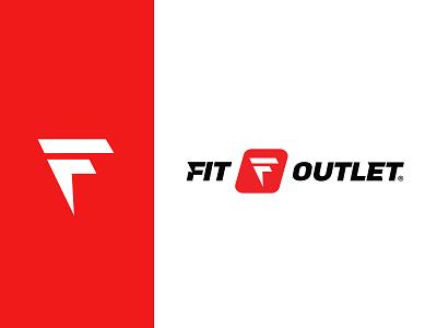 Fit Outlet sports logo sport logo outlet logo fit outlet fit outlet logotype logodesign logo