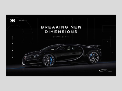 Chiron Landing Concept car website car cars bugatti bugatti chiron chiron interactive modern web design web interfaces webdesign web website