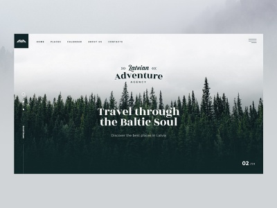 Latvian Adventure Agency web travel website travel agency latvian latvia web interfaces agency website webdesign website logo