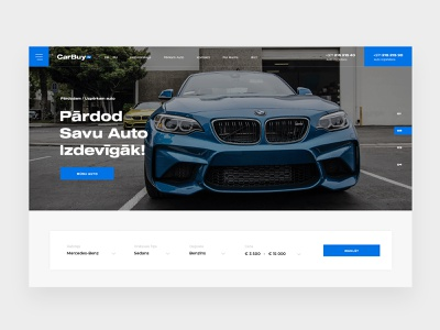 CarBuy car cars car sales car website clean interactive modern web design web interfaces web webdesign website