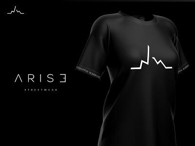 ARISE shirt design tshirt minimalstic clean dark black branding logotype logo logo design brand arise streetwear clothing