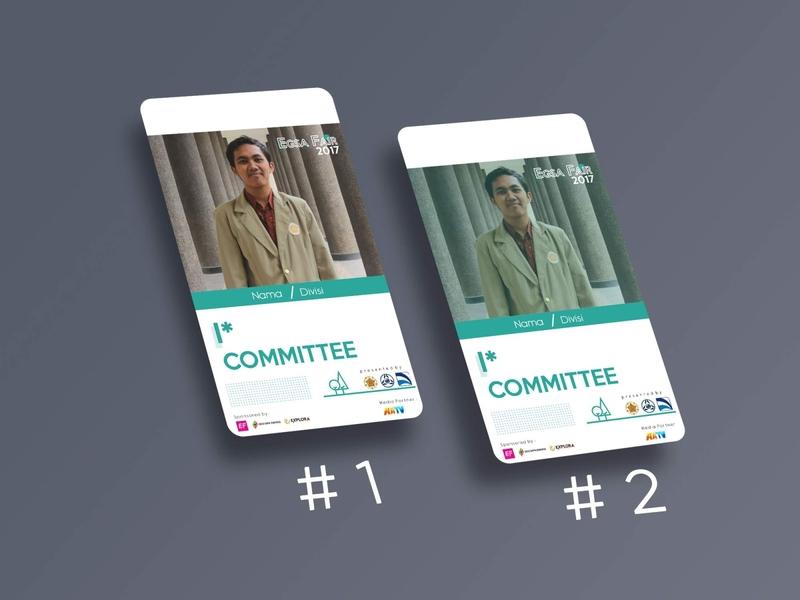 EGSAFAIR Committee Card mockup coreldraw photoshop fair event id card design cocard
