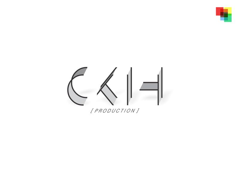 CKIH Production Logo coreldraw two-tone monochromatic monochrome shadows build typography design art designs design logo design logodesign logogram logotype logos logo