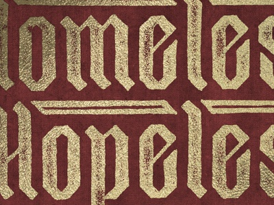Omele Hopele sevenly pen typography texture