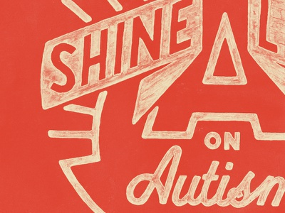 Shine typography hand lettering texture sevenly