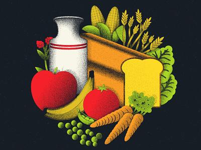 Food illustrator texture sevenly vector