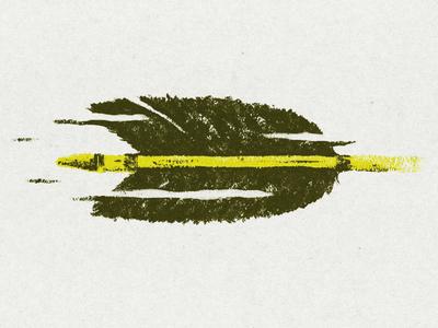Arrow illustration texture arrow painting acrylic