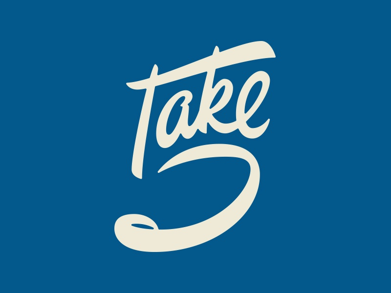 Take 5! lettering script typography hand lettering brush lettering brush script vector