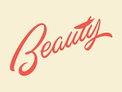 Beauty Script vector typography lettering script
