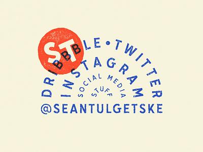 Social Media STUFF typography type stamp badge