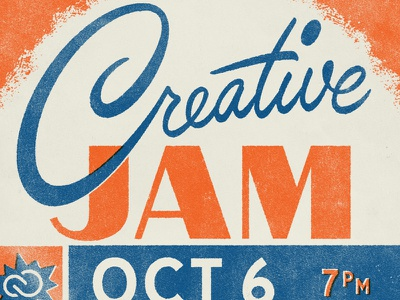 Creative Jam Detroit detroit type script texture typography lettering