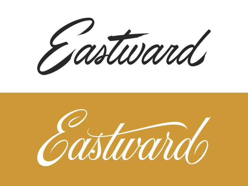 Eastward process typography script type lettering logotype logo