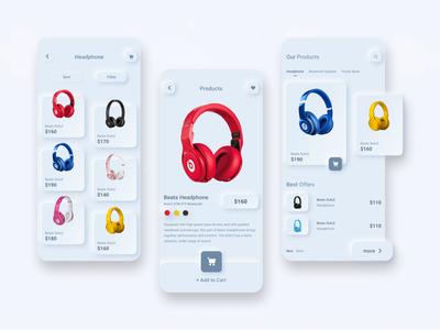 Neumorphism E-Commerce App Concept