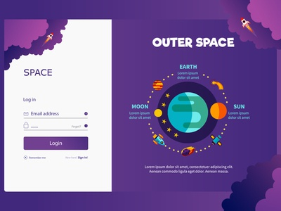 Space Login Page