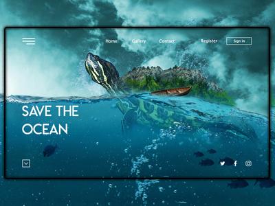 Ocean Landing Page