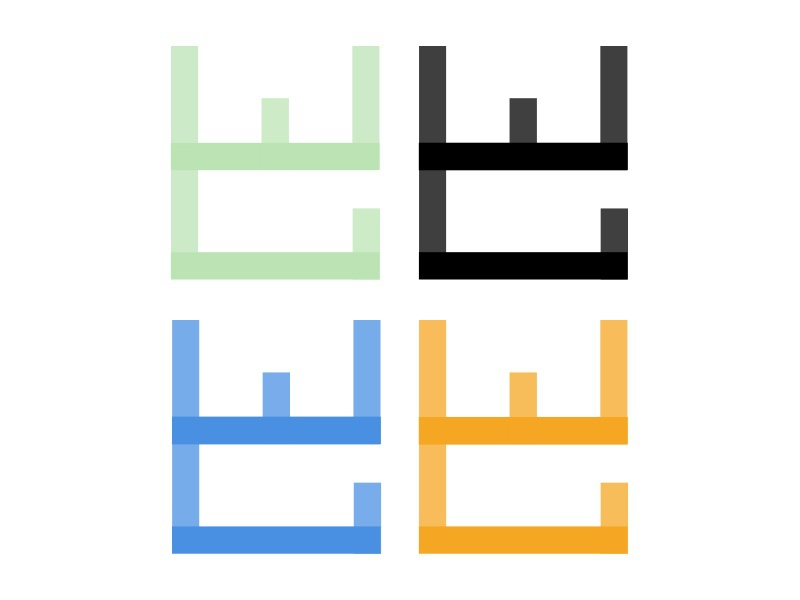 Draft 3: The Watercolor Gallery logo mark learning h2ocolor logo mark