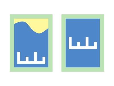 Draft 5: The Watercolor Gallery logo mark learning the watercolor gallery brand logo mark