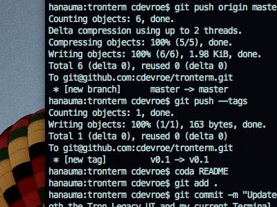 Tronterm:  The Grid. terminal osx style tronterm github movies tron mac os x tron legacy terminal style