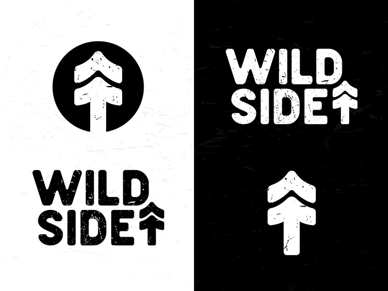 Wildside Logo typography textures outside wild arrow tree explore stress texture adventure apparel logo outdoor wildside design illustration