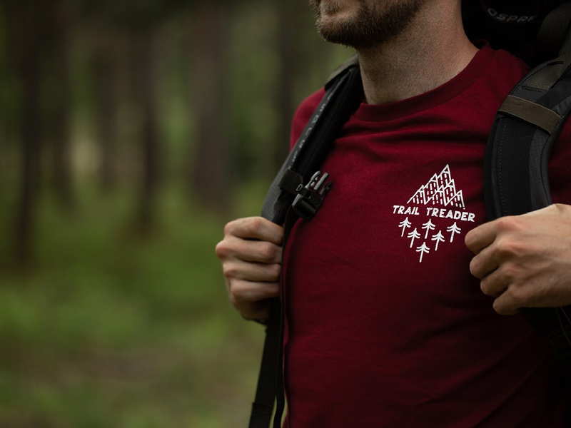 Wildside - Trail Treader wildside photography walking outside explore trail running trail logo emblem apparel logo t-shirt illustration trekking tee design t-shirt tee clothing apparel adventure