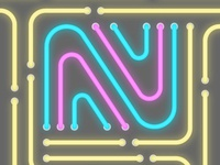 36 days of type - N (Neon)