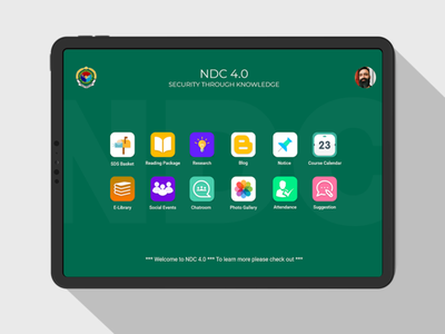 NDC 4.0 for National Defence College defence learning management system lms ui uiux user experience user interface