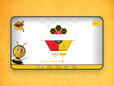 Spelling Bee Web Game UI/UX (Season 5) ui children education spelling spelling bee game design clean interaction micro interaction uiux user experience user interface
