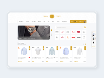 Fashion Brand Based E-commerce Platform brand fashion ecommerce clean adobe xd uiux user experience ui user interface