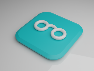 EDOOZZ 3D Icon - MAC OS Big Sur Style glossy blender3d blender iconography big sur edoozz 3d icon