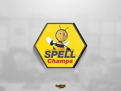 Spell Champs Logo (for Spelling Bee season 5) icon typography game logo logotype champs spelling bee game vector branding illustration ui user interface logo