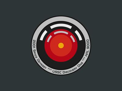hal 9000 - mission patch