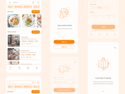 Food delivery: Mobile app