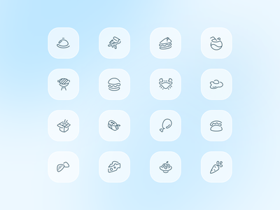 Icons of cuisines. FullFork illustration food ios vector icon design app mobile ux ui