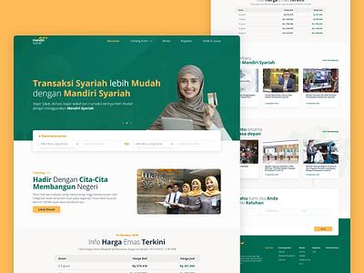 Mandiri Syariah - Exploration uidesign orange bank banking green web website user interface illustration ui design
