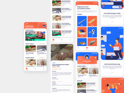 Basic Tips Apps article streaming app education course builder tips basic blue app mobile uidesign user interface ux illustration ui design