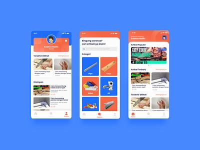 Basic Tips Apps - Pages education course tutorial builder orange blue app uidesign user interface ux ui design