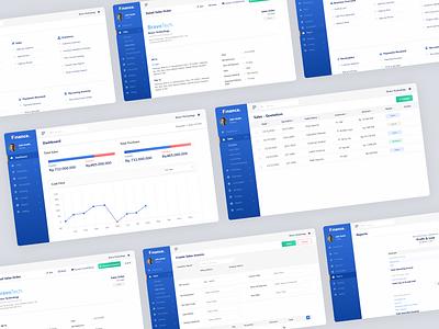 Finance - Dashboard/Form website web blue form business finance business erp finance uidesign user interface ui design