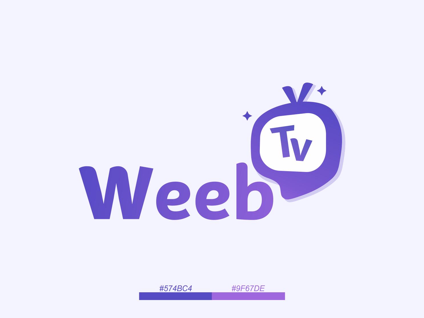 Weeb Tv Logo app icon typography television tv logo branding design