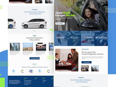 Rent Car - UI webdesign web rent car website ux ui illustration design