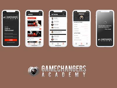 Game Changers Academy Concept branding app design iosdesign ios mobileapplication mobileapp uidesign ui mobileappdesign mobile design mobile app