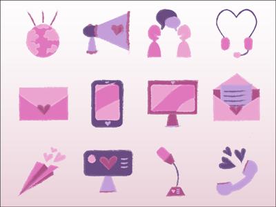 Pink Icon Set
