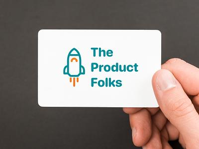Logo - The Product Folks product designer mockup rocket community branding adobe graphic art minimal vector illustration design logotype logos logo design logo