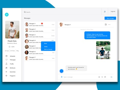 Chat Screen minimal onboarding screen health app medical app medical care health care ui dashboard ui concept application website concept app redesign messenger message app chat screen chat box chat app