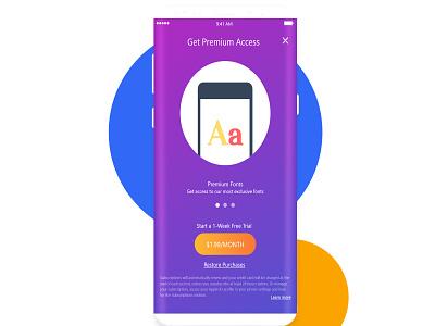 Premium Access Screen animation web adobe ux design app branding minimal illustration vector app ui design app ui uidesign purchase screen app concept app animation checkout premium payment gateway app