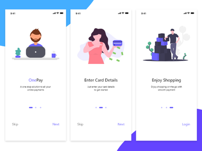 Onboarding Screen Concept challange dailui payment app concept app android app screen flow ui minimal payment page onboarding screen onboarding illustration graphic design payment card payment credit card branding concept app
