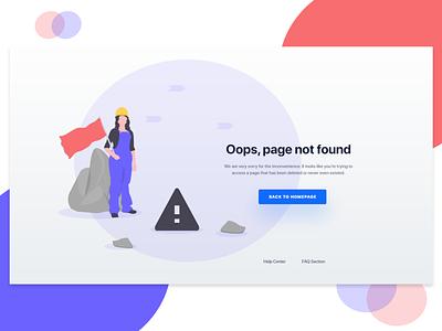 404 Error Landing Page 404 error website web screen app screen challenge ios android landing page error concept app