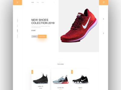 Nike Shoes Collection Web UI kit landing page page app icon logo mascot challenge daily ui animation illustration adobe