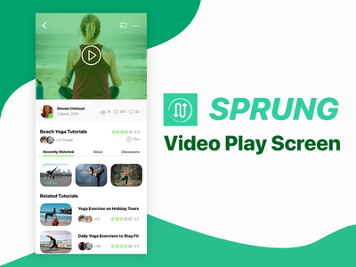 Video Play Screen video app video website web screen app screen challenge ios android landing page error concept app