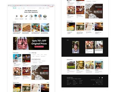 Landing Page (LBB - Desktop) like app product place city recommendation ecommerce desktop app web app web desktop ux ui design homepage landing page